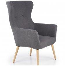 COTTO tamsiai pilkas minkštas fotelis