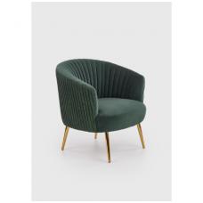 CROWN fotelis  tamsiai žalios spalvos