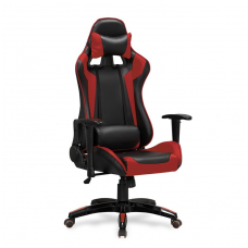 DEFENDER black / red colored guide office chair on wheels