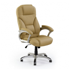 DESMOND beige guide office chair on wheels