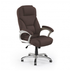 DESMOND dark brown colored guide office chair on wheels