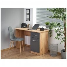 ELMO antracito matinė / wotano ąžuolo spalvos rašomasis stalas su stalčiumi