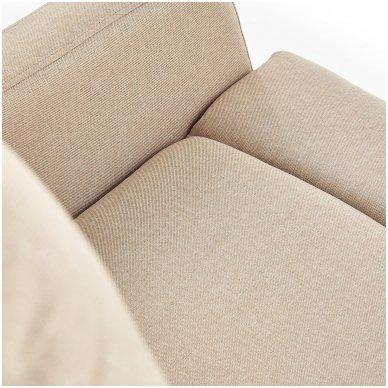 FELIPE smėlio spalvos fotelis su išskleidžiamu pakoju 6