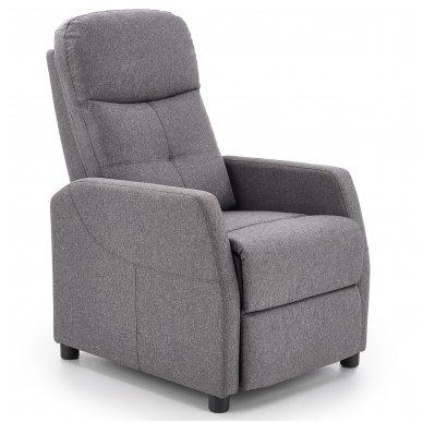 FELIPE tamsiai pilkas fotelis su išskleidžiamu pakoju