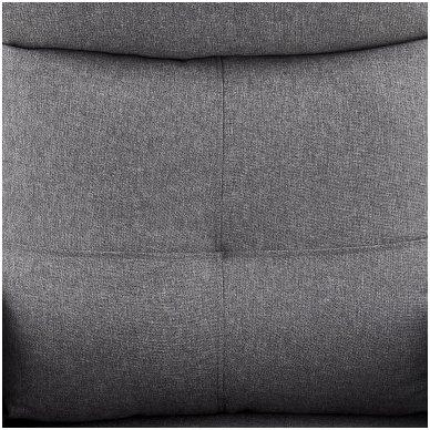 FELIPE tamsiai pilkas fotelis su išskleidžiamu pakoju 6