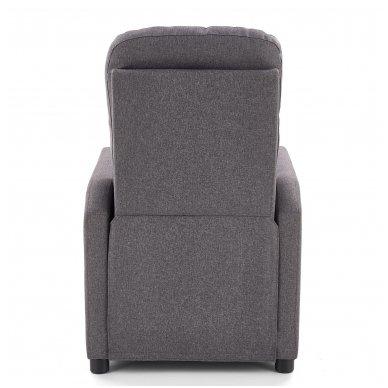 FELIPE tamsiai pilkas fotelis su išskleidžiamu pakoju 2