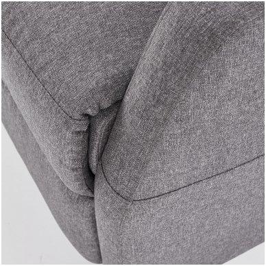 FELIPE tamsiai pilkas fotelis su išskleidžiamu pakoju 7