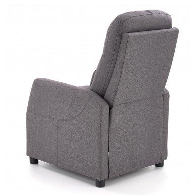 FELIPE tamsiai pilkas fotelis su išskleidžiamu pakoju 9