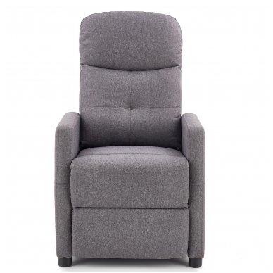 FELIPE tamsiai pilkas fotelis su išskleidžiamu pakoju 4