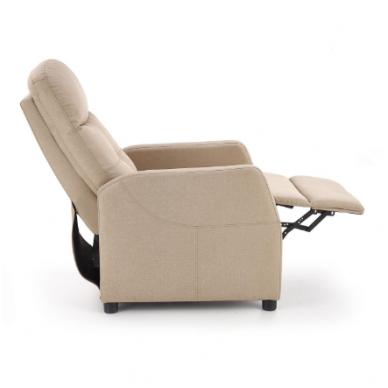 FELIPE smėlio spalvos fotelis su išskleidžiamu pakoju 11