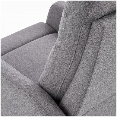 FELIPE tamsiai pilkas fotelis su išskleidžiamu pakoju 8