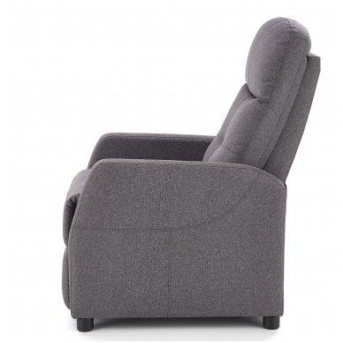 FELIPE tamsiai pilkas fotelis su išskleidžiamu pakoju 12