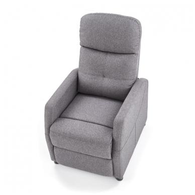 FELIPE tamsiai pilkas fotelis su išskleidžiamu pakoju 3