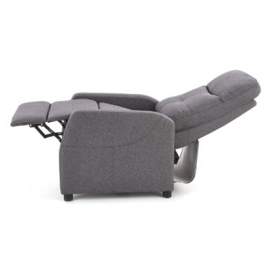 FELIPE tamsiai pilkas fotelis su išskleidžiamu pakoju 10
