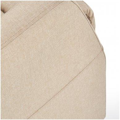 FELIPE smėlio spalvos fotelis su išskleidžiamu pakoju 7