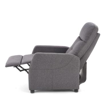 FELIPE tamsiai pilkas fotelis su išskleidžiamu pakoju 11