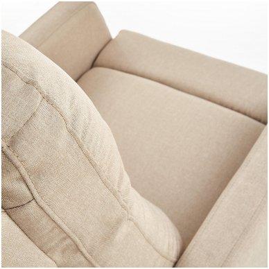 FELIPE smėlio spalvos fotelis su išskleidžiamu pakoju 8