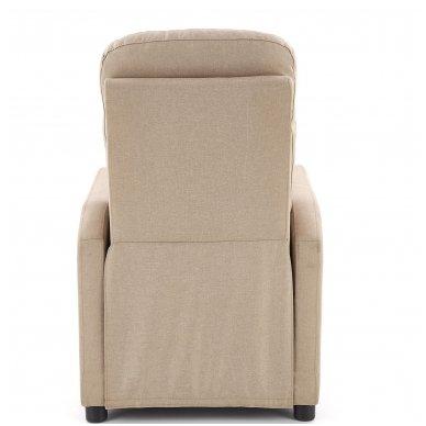 FELIPE smėlio spalvos fotelis su išskleidžiamu pakoju 3