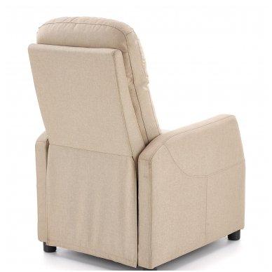 FELIPE smėlio spalvos fotelis su išskleidžiamu pakoju 9