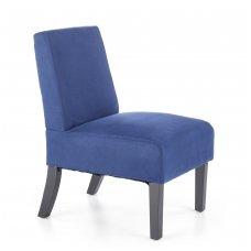 FIDO mėlynas minkštas fotelis