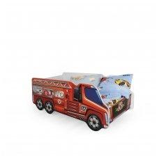 FIRE TRUCK vaikiška lova - ugniagesių mašina su čiužiniu