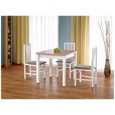 GRACJAN sonomos ąžuolo / baltos spalvos išskleidžiamas valgomojo stalas