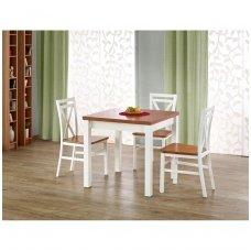 GRACJAN alksnio / baltos spalvos išskleidžiamas valgomojo stalas