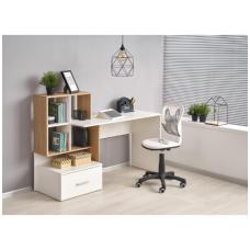 GROSSO rašomasis stalas su lentynom ir stalčiumi