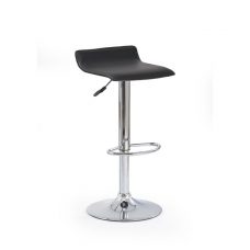 H-1 black bar stool with turnover function