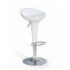 H-17 white bar stool with turnover function