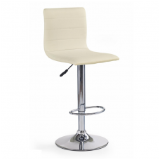 H-21 cream colored bar stool with turnover function