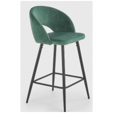 H-96 tamsiai žalia baro kėdė