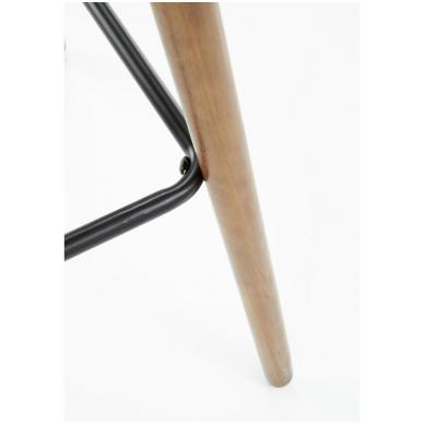 H-93 tamsiai pilka baro kėdė su kojelėmis 5