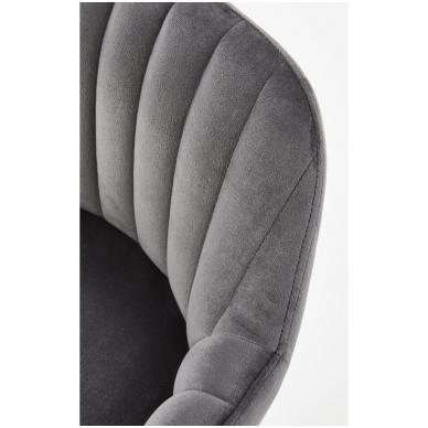 H-93 tamsiai pilka baro kėdė su kojelėmis 6
