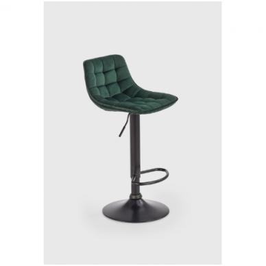 H-95 tamsiai žalia baro kėdė