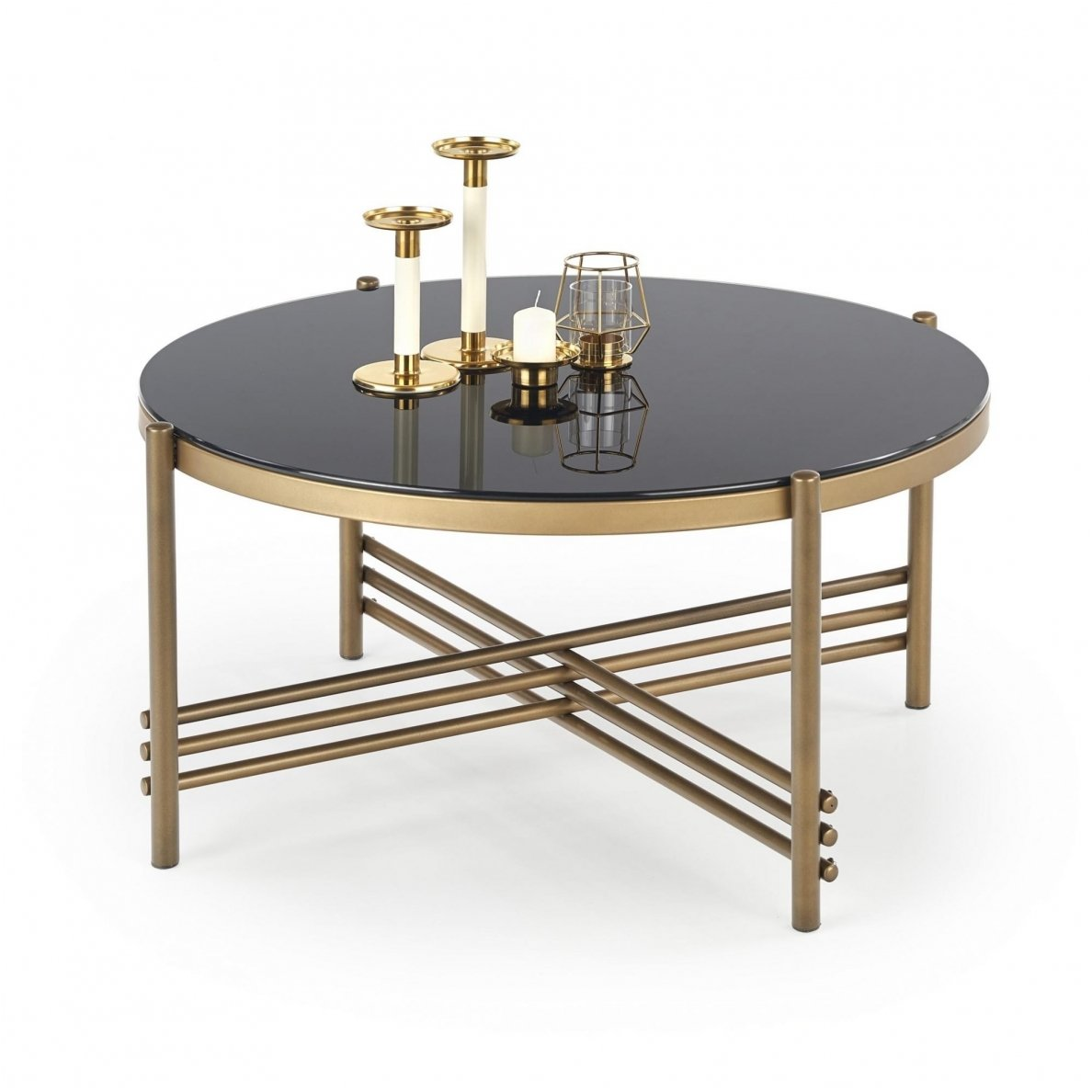 Glass Coffee Table Images.Ismena Round Glass Coffee Magazine Table