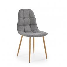 K316 pilka metalinė kėdė