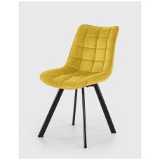 K332 geltona metalinė kėdė