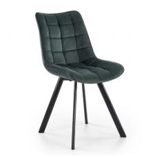 K332 tamsiai žalia metalinė kėdė