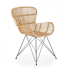 K335 natural rattan / metal chair