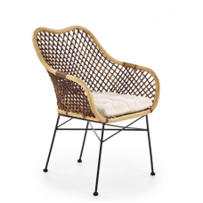 K336 natural rattan / metal chair
