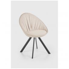 K358 smėlio spalvos metalinė kėdė