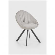 K358 pilka metalinė kėdė