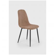 K387 smėlio spalvos metalinė kėdė