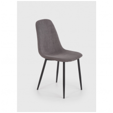 K387 pilka metalinė kėdė