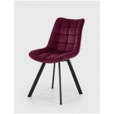 K332 bordo metalinė kėdė