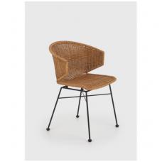 K407 natūralaus rotango / metalinė kėdė