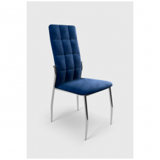 K416 dark blue velvet chair