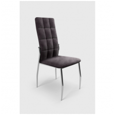 K416 gray velvet chair