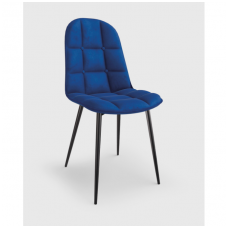 K417 dark blue velvet chair